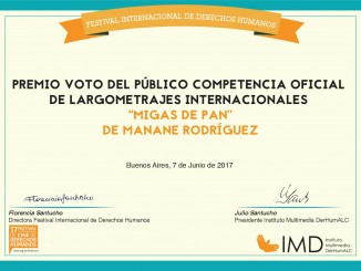 Premio del Público para Migas de pan